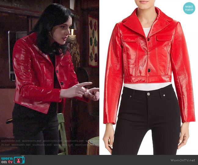 Elie Tahari Gigi Jacket worn by Tessa Porter (Cait Fairbanks) on The Young & the Restless
