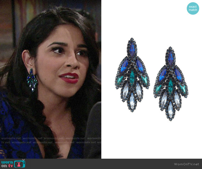 Elizabeth Cole Bacall Earrings worn by Mia Rosales (Noemi Gonzalez) on The Young & the Restless