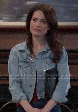 Elizabeth's denim jacket on General Hospital