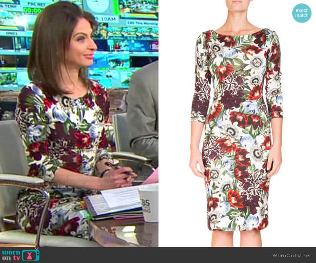 Erdem Reese Dress worn by Bianna Golodryga  on CBS This Morning