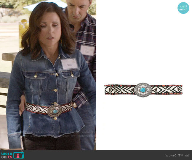 Etro Aztec Belt worn by Selina Meyer (Julia Louis-Dreyfus) on Veep