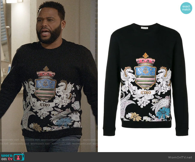 Etro Printed Sweatshirt worn by Andre Johnson (Anthony Anderson) on Blackish