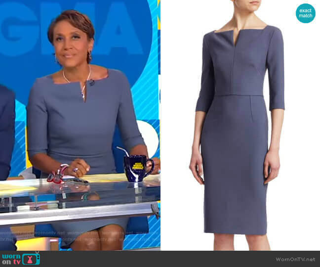 Etty Dress by Roland Mouret worn by Robin Roberts  on Good Morning America