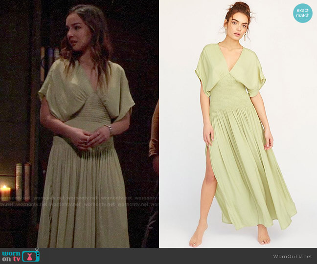 Free People Hold Me Close Maxi Dress worn by Kristina Corinthos (Lexi Ainsworth) on General Hospital