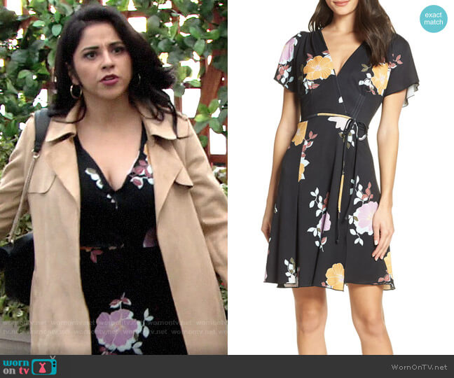 French Connection Shikoku Dress worn by Mia Rosales (Noemi Gonzalez) on The Young & the Restless