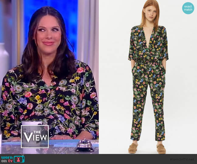 Jumpsuit Nathalie by Gerard Darel worn by Abby Huntsman  on The View