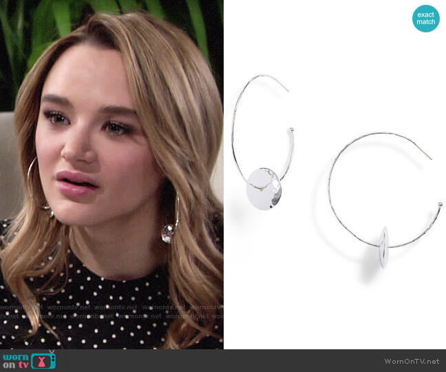 Gorjana Marlow Earrings worn by Summer Newman (Hunter King) on The Young & the Restless