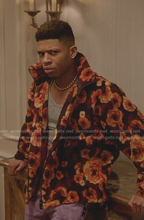 Hakeem's orange floral fleece jacket on Empire