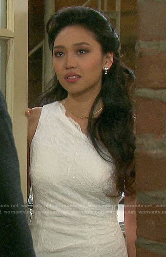 Haley's wedding dress on Days of our Lives