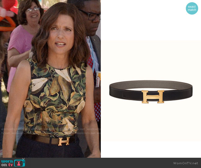 Hermes H Belt Buckle worn by Selina Meyer (Julia Louis-Dreyfus) on Veep