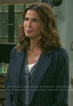 Hope's pinstripe blazer on Days of our Lives