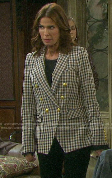 Hope's checked double breasted blazer on Days of our Lives