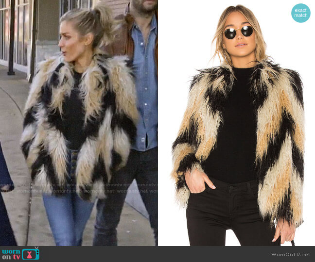 House of Harlow x Revolve Dee Faux Fur Coat  worn by Kristin Cavallari (Kristin Cavallari) on Very Cavallari