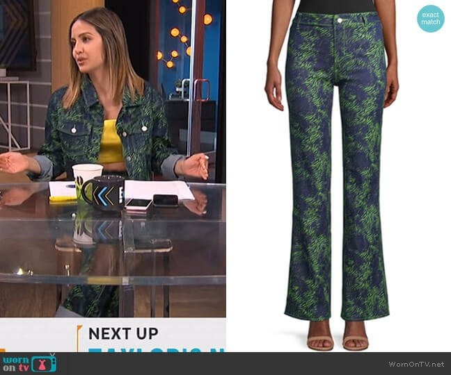 Tali Tiger Flare Pant by I AM GIA worn by Erin Lim  on E! News