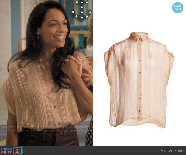 IRO Ruts Shirt worn by Jane Ramos (Rosario Dawson) on Jane the Virgin
