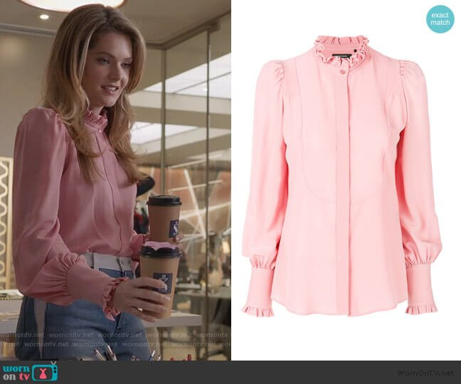 Sloan Victorian shirt by Isabel Marant worn by Sutton (Meghann Fahy) on The Bold Type