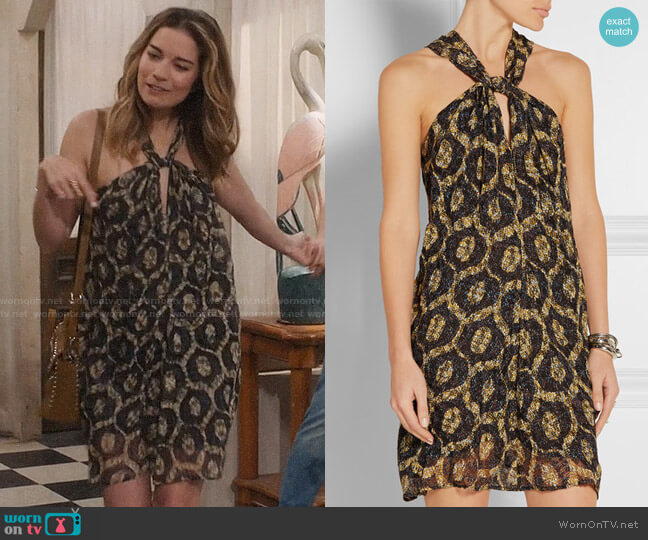 Isabel Marant Tevy Dress worn by Alexis Rose (Annie Murphy) on Schitts Creek
