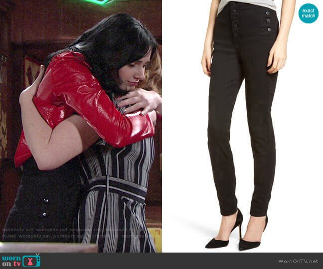 J Brand Natasha Jeans worn by Tessa Porter (Cait Fairbanks) on The Young & the Restless