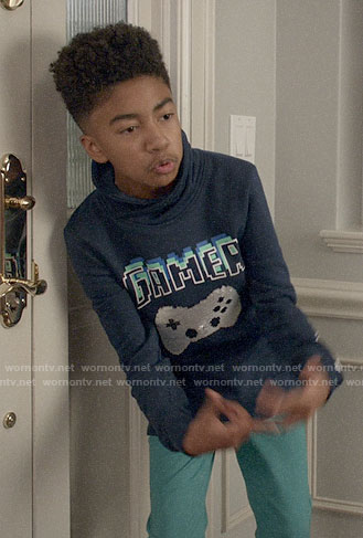 Jack's Gamer graphic sweatshirt on Black-ish