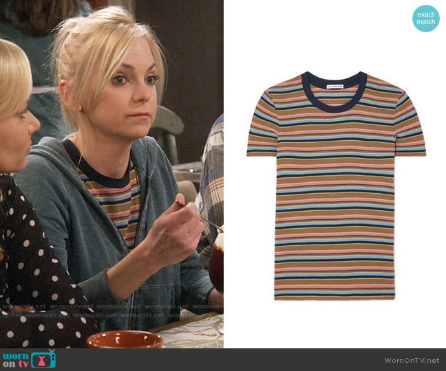 James Perse Vintage Boy Striped T-shirt worn by Christy Plunkett (Anna Faris) on Mom