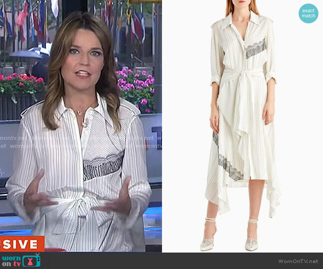 Silk Collared Long Sleeve Dress by Jason Wu worn by Savannah Guthrie  on Today