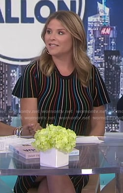 Jenna's rainbow striped dress on Today