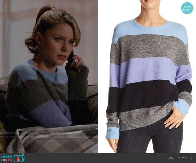 John & Jenn Marc Striped Sweater worn by Kara Danvers (Melissa Benoist) on Supergirl