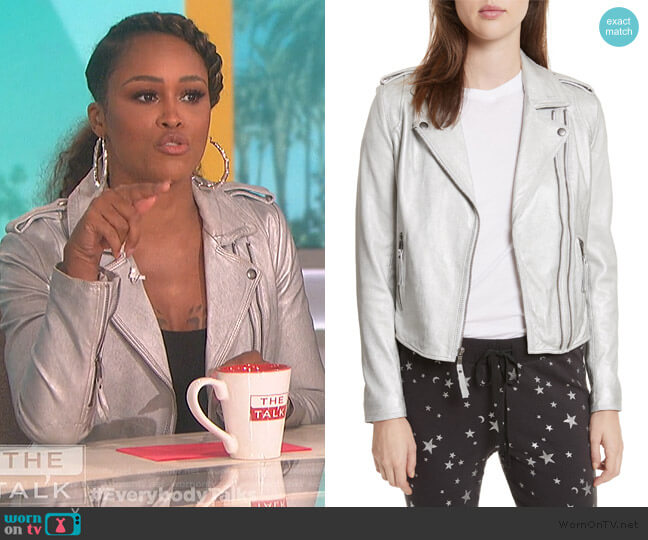 Leolani Leather Jacket by Joie worn by Eve  on The Talk