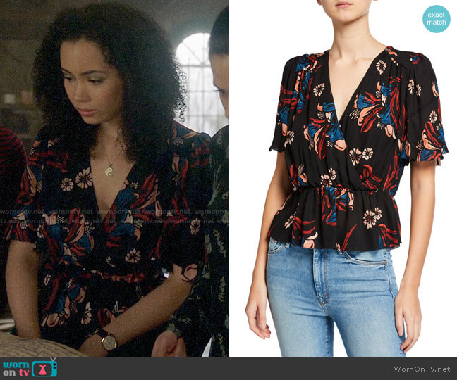 Joie Bisma Top worn by Macy Vaughn (Madeleine Mantock) on Charmed