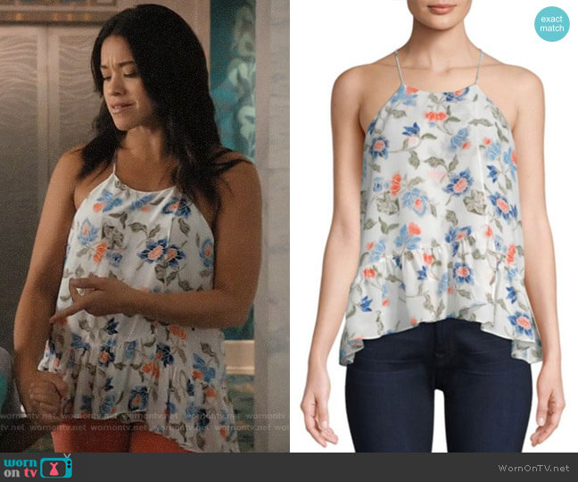 Joie Derwen Top worn by Jane Villanueva (Gina Rodriguez) on Jane the Virgin