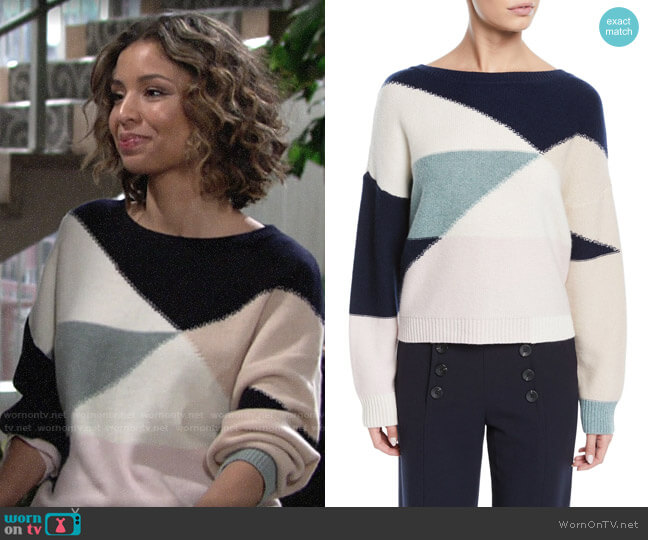 Joie Megu Sweater worn by Elena Dawson (Brytni Sarpy) on The Young & the Restless