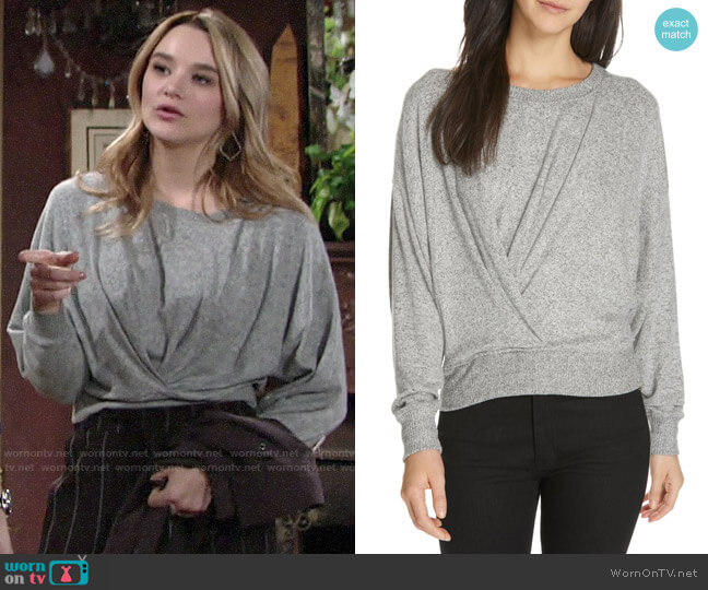 Joie Yerrick Sweater worn by Summer Newman (Hunter King) on The Young & the Restless