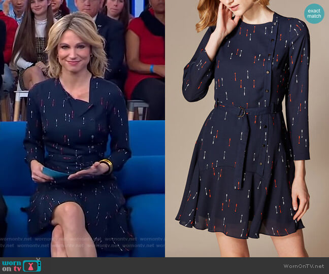 Arrow-Print Mini Dress by Karen Millen worn by Amy Robach  on Good Morning America
