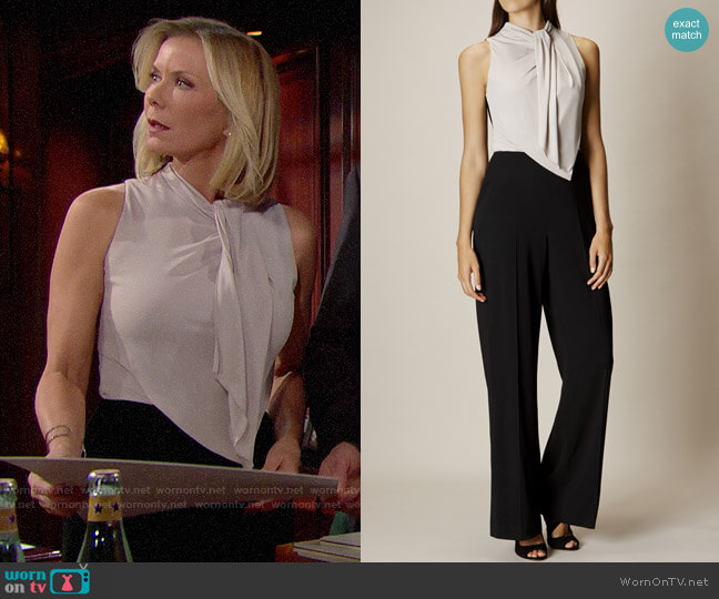 Karen Millen Debonaire Jumpsuit worn by Brooke Logan (Katherine Kelly Lang) on The Bold & the Beautiful