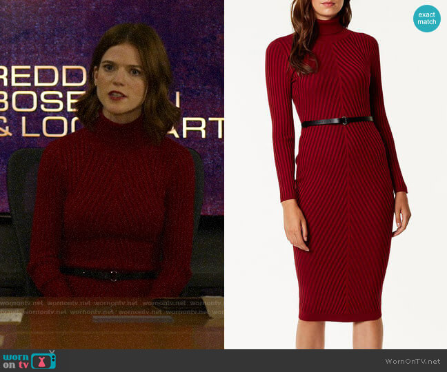 Karen Millen Ribbed Fitted Knit Dress worn by Maia Rindell (Rose Leslie) on The Good Fight