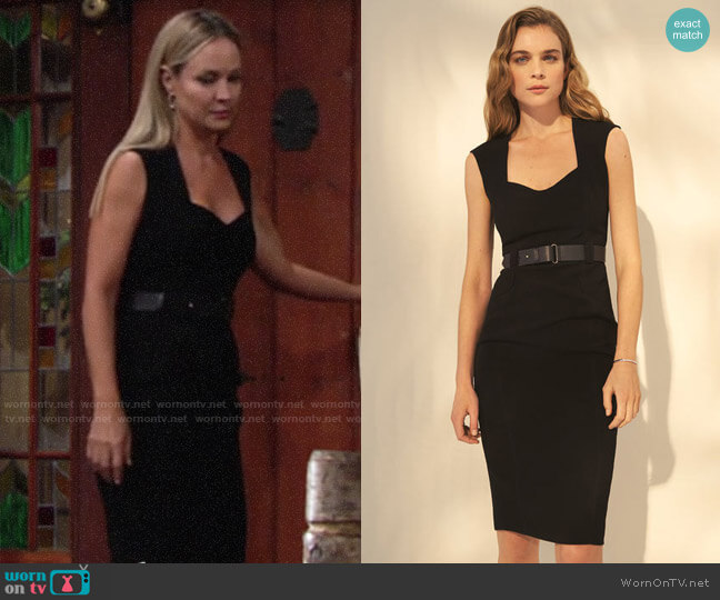 Karen Millen Sleeveless Forever Dress worn by Sharon Collins (Sharon Case) on The Young & the Restless