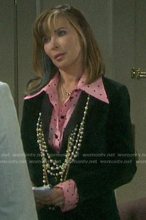 Kate's pink polka dot shirt on Days of our Lives