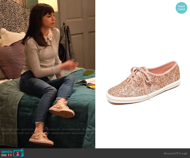 Keds x Kate Spade Champion Glitter Sneaker worn by Molly (Lauren Lindsey Donzis) on No Good Nick