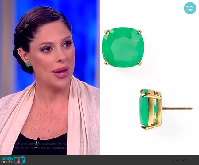 Small Square Studd Earrings by Kate Spade worn by Abby Huntsman  on The View