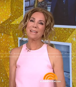 Kathie's pink sleeveless dress on Today