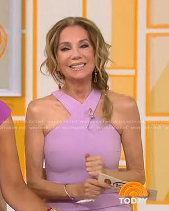 Kathie's purple cross-neck dress on Today