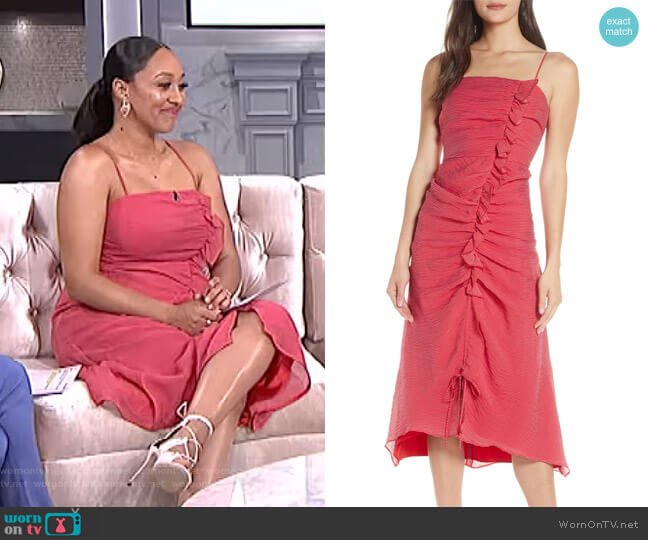 Boundaries Midi Sundress by Keepsake worn by Tamera Mowry (Tamera Mowry) on The Real
