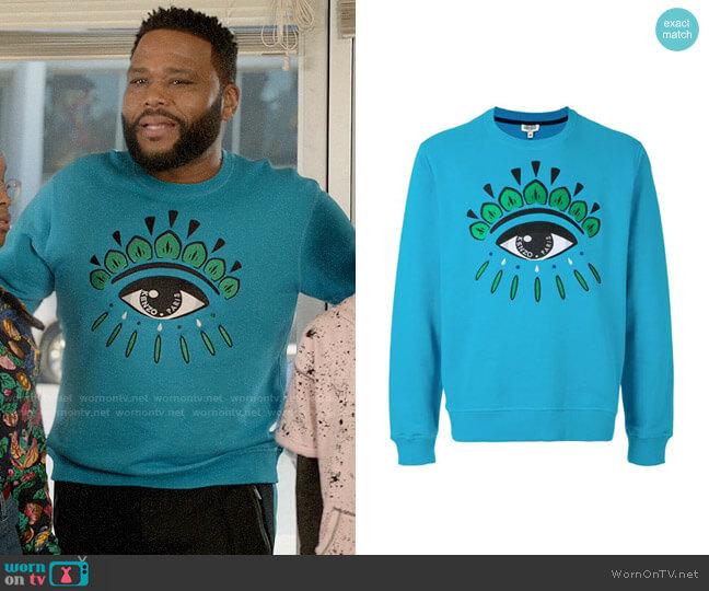 Kenzo Eye Sweatshirt worn by Andre Johnson (Anthony Anderson) on Blackish