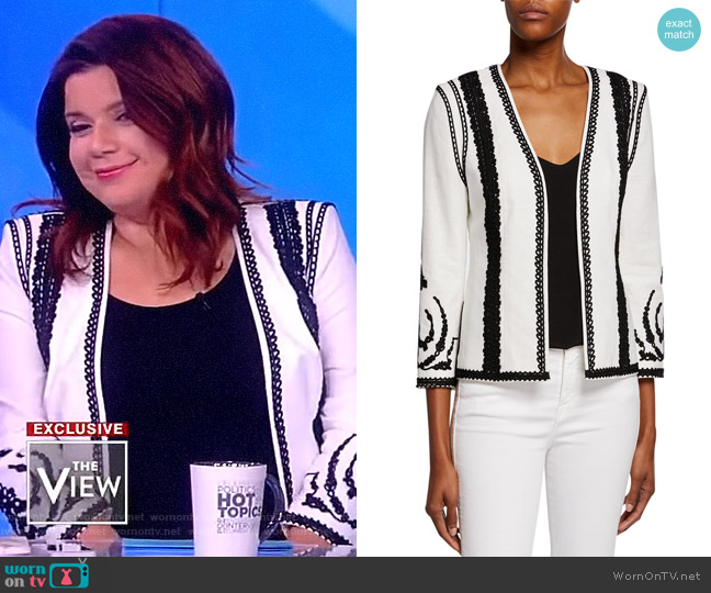 Camila Jacket by Kobi Halperin worn by Ana Navarro  on The View
