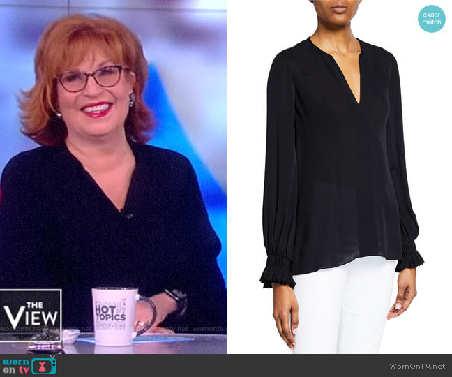 Miley V-Neck Long-Sleeve Blouse by Kobi Halperin worn by Joy Behar  on The View