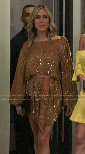 Kristin's gold long sleeved dress on Very Cavallari