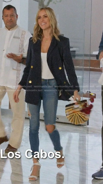 Kristin's navy blazer outfit in Cabo on Very Cavallari