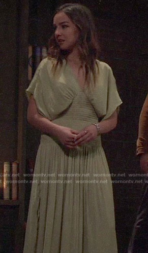 Kristina's green initiation dress on General Hospital