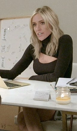 Kristin's black cutout turtleneck on Very Cavallari