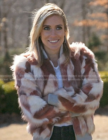 Kristin's pink fur bomber jacket on Very Cavallari